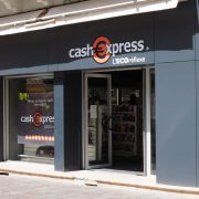 renovation facade magasin cash express millau