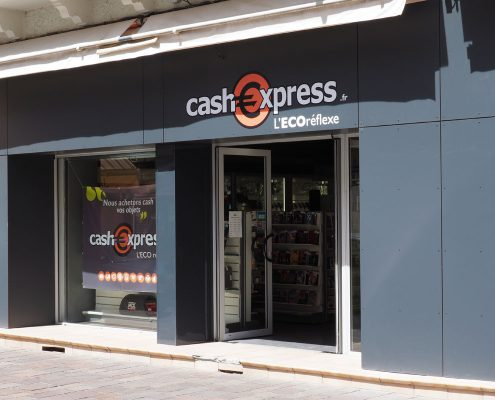 renovation facade magasin cash express millau