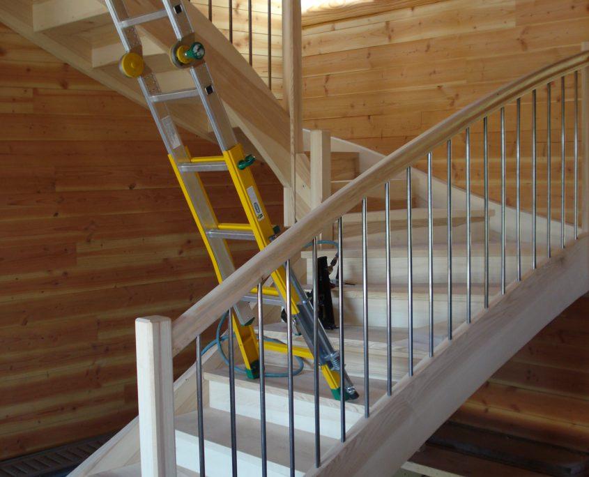 fabrication escalier bois frene rodez