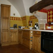 fabrication pose cuisine bois millau chene