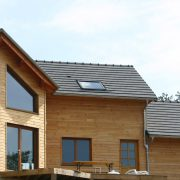 maison ossature bois bardage bioclimatique baies passive saint-beauzely