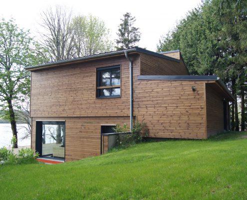 maison ossature bois bardage bioclimatique basse consommation lac pareloup