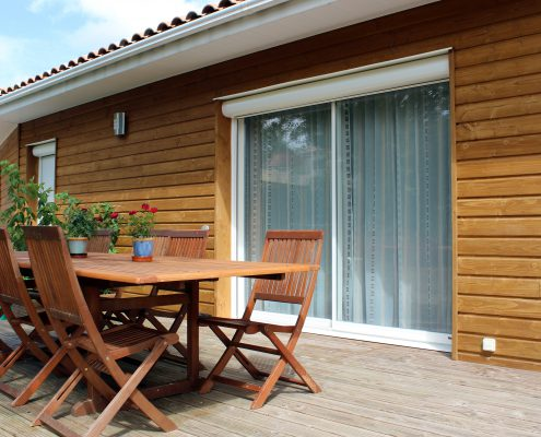 maison ossature bois bardage bioclimatique passive basse consommation douglas millau