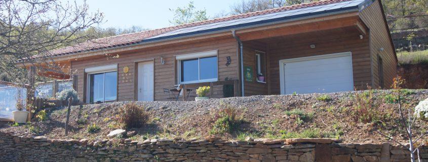 maison ossature bois bardage bioclimatique passive basse consommation terrasse douglas peyre
