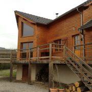 maison ossature bois bardage bioclimatique passive saint-beauzely terrasse