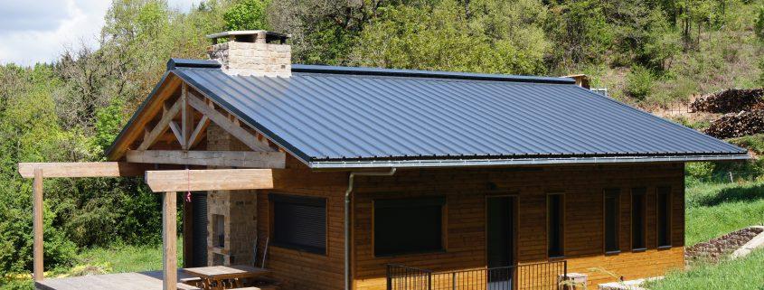 maison ossature bois bardage passive bioclimatique ossature bois camares terrasse