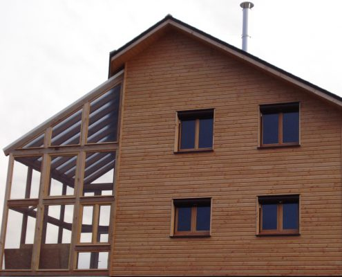 maison ossature bois bardage veranda bioclimatique passive rodezmaison ossature bois bardage veranda bioclimatique passive rodez