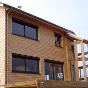 maison ossature bois bardage veranda bioclimatique passive rodez douglasmaison ossature bois bardage veranda bioclimatique passive rodez douglas