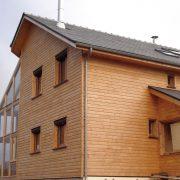 maison ossature bois bardage veranda bioclimatique passive rodez druelle