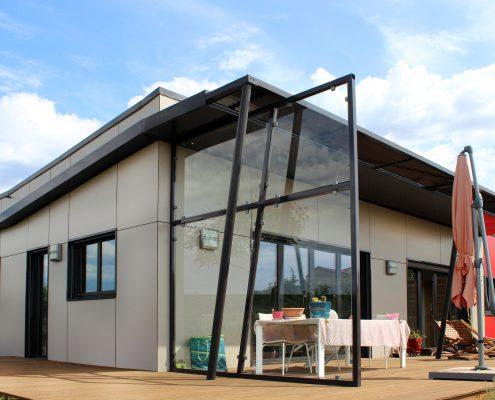 maison ossature bois trespa bioclimatique pergola passive basse consommation pezenas