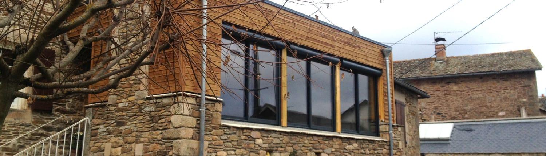 Maisons ossature bois extensions boissiere et fils maisons ossature bois en aveyron for Fabrication ossature bois maison