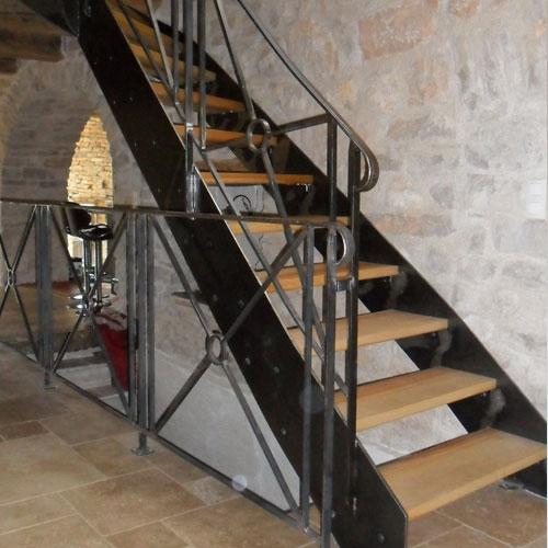 boissiere menuiserie artisanal fabrication escalier bois metal