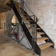 escalier interieur bois metal millau