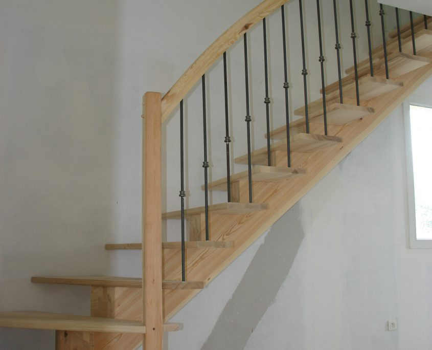 fabrication pose escalier bois millau limon