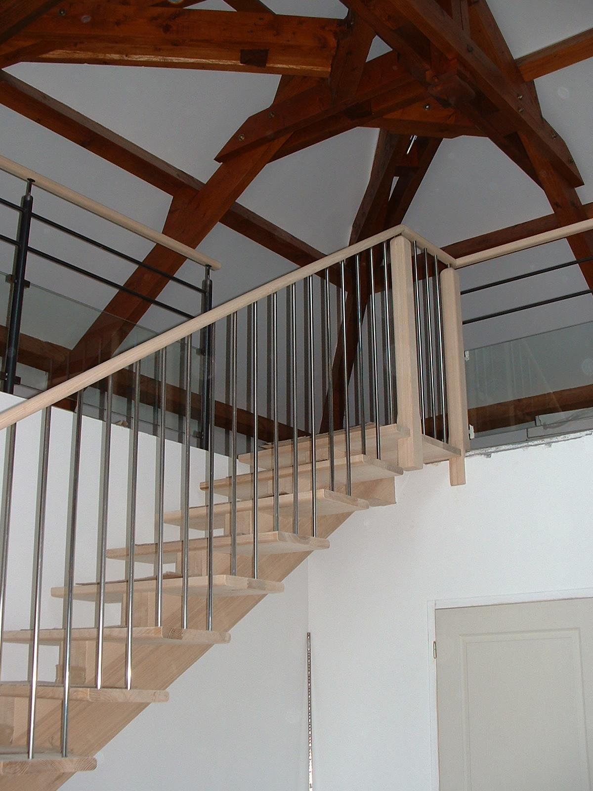 fabrication pose escaliers bois acier saint-beauzely