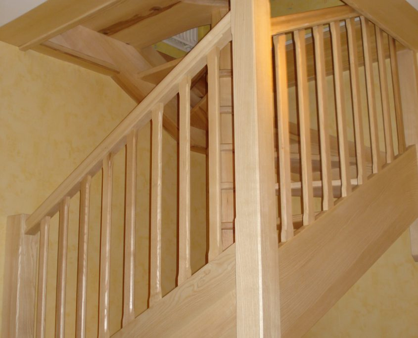 fabrication pose escaliers bois garde corps millau