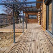 maison ossature bois bardage autoclave bioclimatique passive lodeve