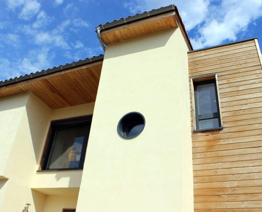 maison ossature bois bardage bioclimatique passive basse consommation herault