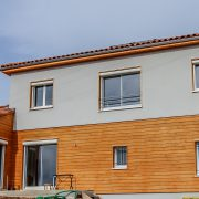 maison ossature bois bardage crepit bioclimative passive basse consommation saint-leons