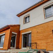 maison ossature bois bardage crepit bioclimative passive basse consommation saint leons isolation exterieure