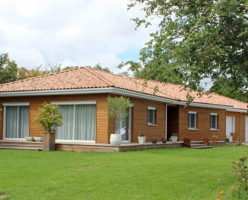 maison ossature bois bardage douglas bioclimatique passive basse consommation millau