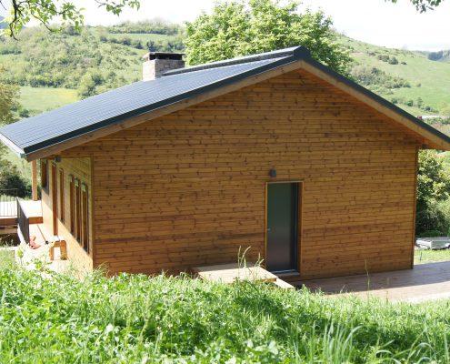 maison ossature bois bardage passive bioclimatique ossature bois camares aveyron