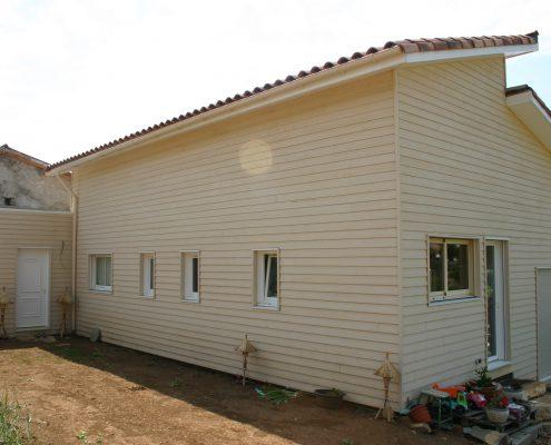 maison ossature bois bioclimatique passive bardage millau