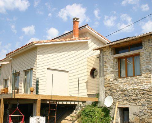 maison ossature bois bioclimatique passive bardage millau aveyron