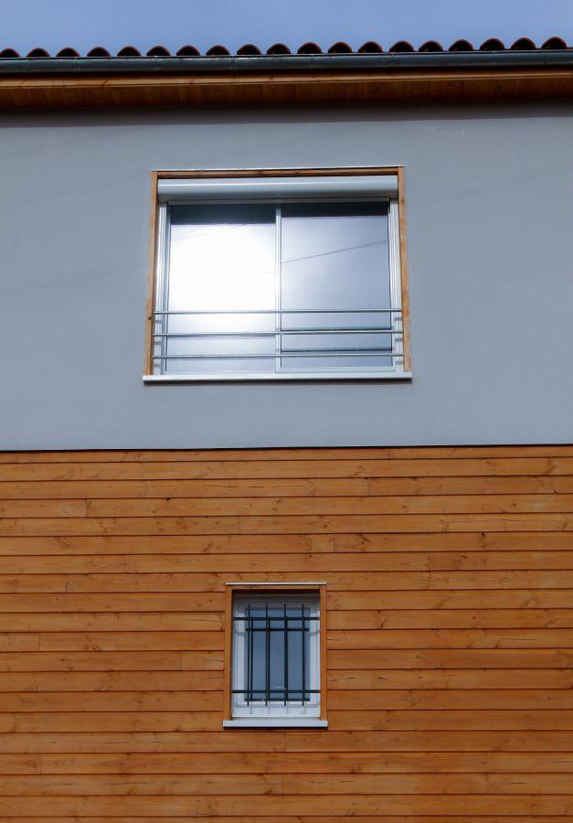 maison ossature bois douglas bardage crepit bioclimative passive basse consommation saint-leons
