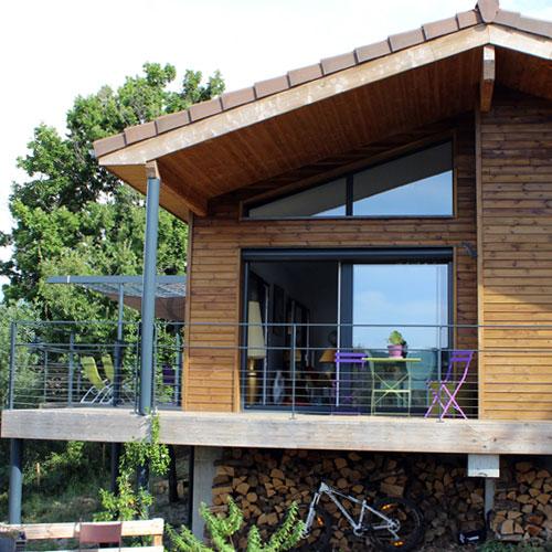 boissiere & fils maison ossature bois terrasse garde corps metal