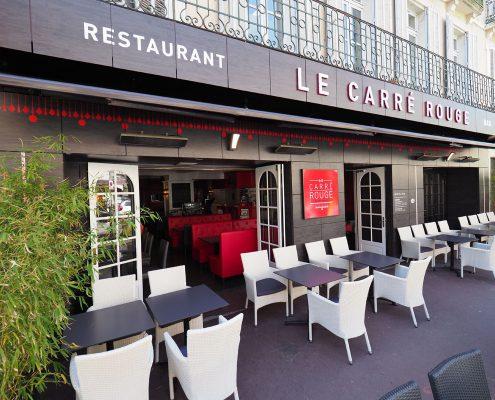 renovation devanture restaurant bar lounge carre rouge