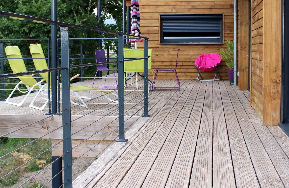 Ossature Métallique Pour Terrasse Bois terrasse sur pilotis | boissiere et fils - maisons ossature